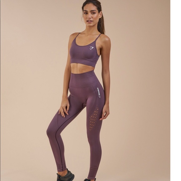 NWT Gymshark Energy Seamless 2 PIECE OUTFIT